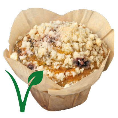 Muffin Fruity Blueberry Vegan